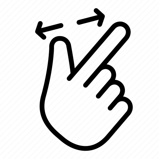 gesture, in, pinch, point, zoom icon