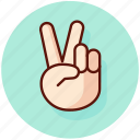 gesture, peace, sign icon