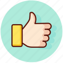 favorite, gesture, like, thumbs, up icon