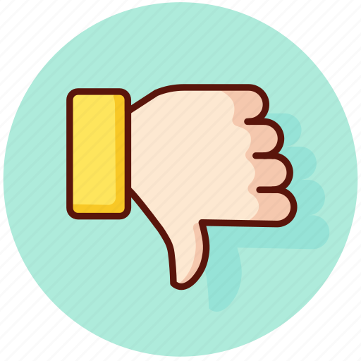 disapproved, dislike, down, finger, thumb, unlike icon