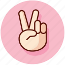 gesture, gestures, peace, sign icon