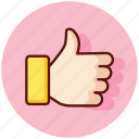 approve, favorite, favourite, like, thumb, thumbs, up icon