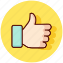 favourite, gesture, like, love, thumb, thumbs, up icon