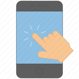 device, finger, gesture, hand, interaction, press icon