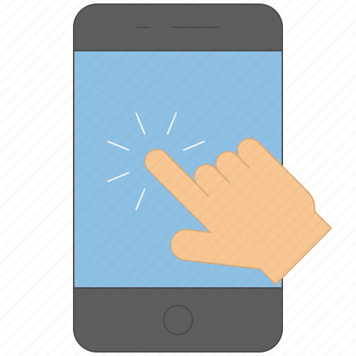 Device, finger, gesture, hand, interaction, press icon - Download on Iconfinder