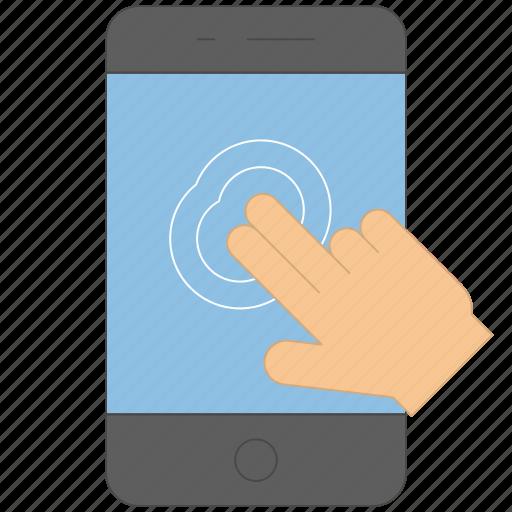 control, device, gesture, handheld, press icon