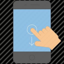 control, device, down, gadget, gesture, press icon