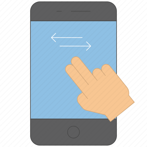 control, device, gadget, gesture, left, right, swipe icon