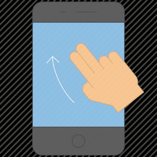 control, device, gadget, gesture, press, swipe, up icon