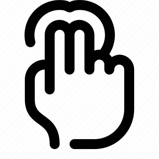 Click, double, hand, press, tap, touch, two fingers icon - Download on Iconfinder
