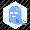 halloween, emoji, emoticon, annoying, ghost icon