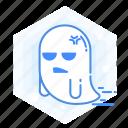 emoticon, ghost, annoying, emoji, halloween icon