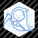 emoticon, ghost, emoji, reapper, halloween, grim icon