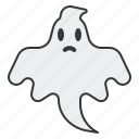 ghost, halloween, horror, paranormal, scary, spirit, spooky icon