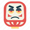 daruma, fortune, japanese, toys icon