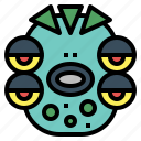 sifi, ufo, monster, ghost icon