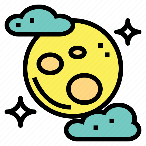 cloud, full, god, moon icon