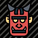 demon, devil, japanese, oni icon