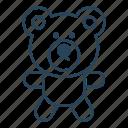 gift, love, romantic gift, set, teddy bear icon