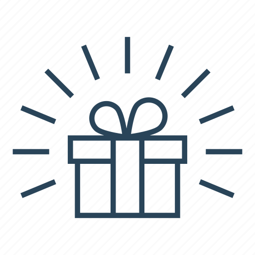 birthday gift, christmas gift, gift, gift box, present, set icon