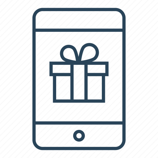 gift, gift box, mobile, mobile phone gift, phone, set, surprise icon