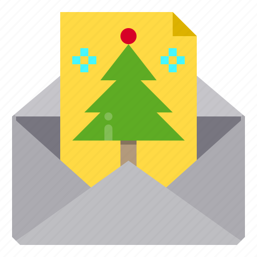 christmas, gift, mail icon