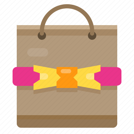 bag, gift, ribbin icon