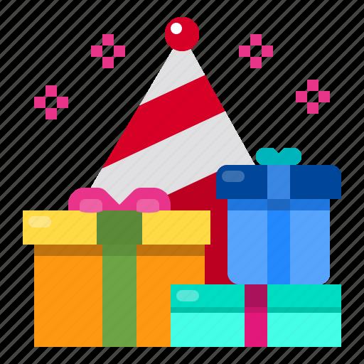 box, celebration, gift, party icon