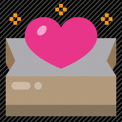 bag, gift, heart icon