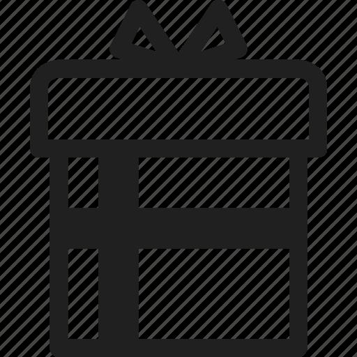 design, gift box, line, web icon