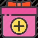 add, birthday, box, gift, order, present icon