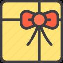 birthday, box, gift, order, present, square icon