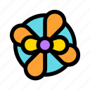box, flower, gift, holiday, orange, present icon