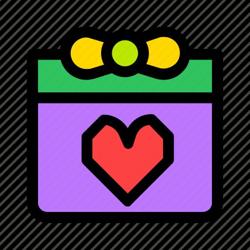 box, christmas, gift, heart, holiday, present icon