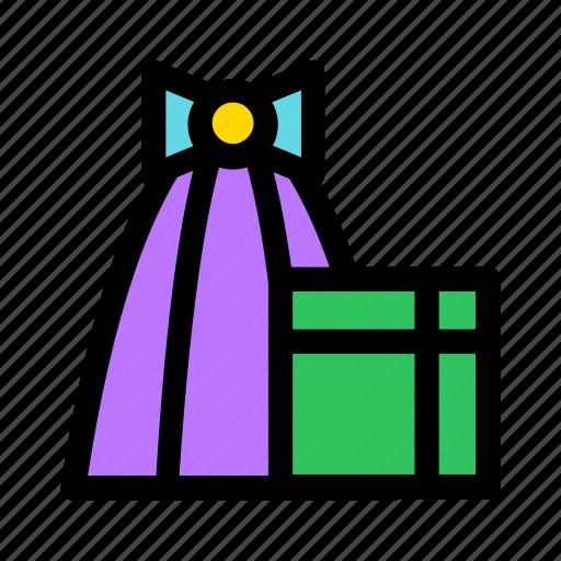 bow, box, christmas, gift, holiday, presents icon