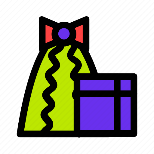 bow, christmas, gift, holiday, presents icon