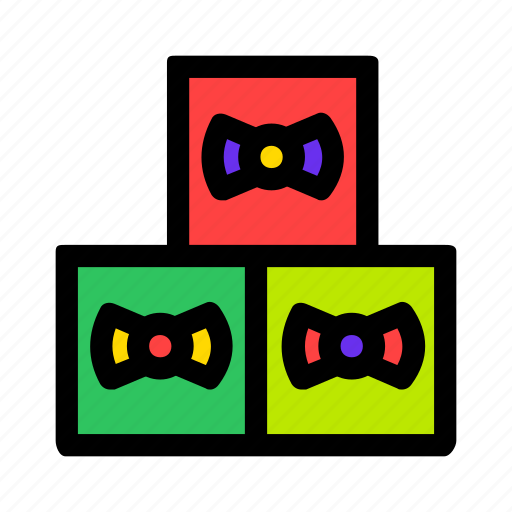 bow, box, gifts, holiday, present, three icon