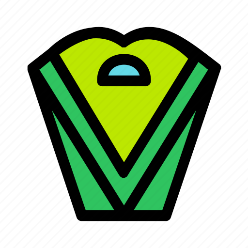 box, christmas, green, holiday, package, present, triangle icon