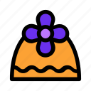 christmas, cone, flower, gift, present, violet icon