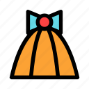 birthday, cone, gift, new year, orange icon