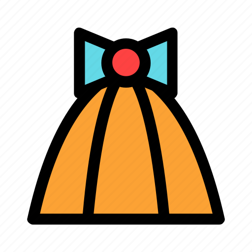 birthday, cone, gift, new year, orange icon