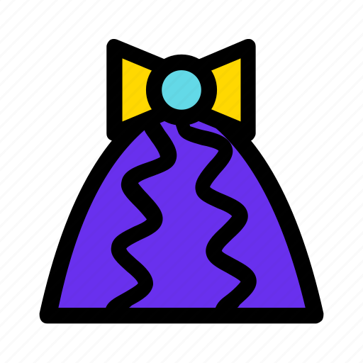 bow, christmas, cone, gift, new year, violet icon