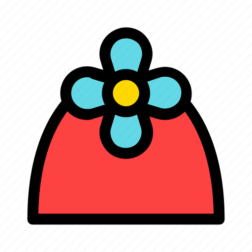 christmas, cone, flower, gift, new year, present icon