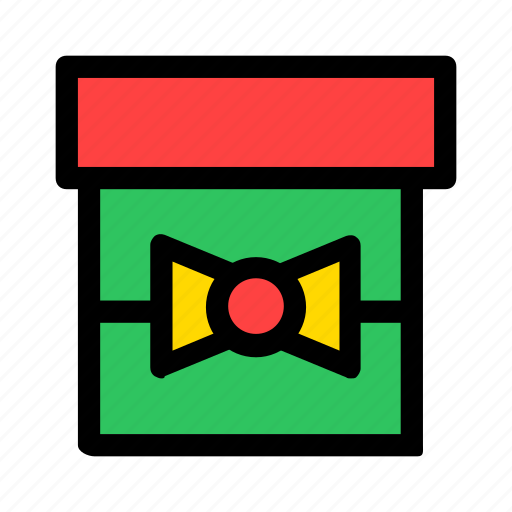 christmas, gift, green, new year, present, red icon