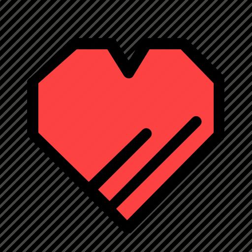 box, gift, heart, like, love, present icon