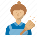 cleaner, housekeeper, job, maid, occupation, profession, servant icon