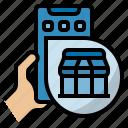 shop, shopping, online shop, online shopping, online store, e-commerce icon