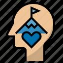 achievement, affection, challenge, goal, infatuation, passion icon