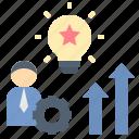 aptitude, development, idea, skill, talent icon