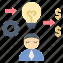 businessman, change, idea, innovation, millionaire